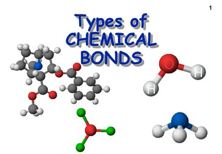 1 Types of CHEMICAL BONDS. 2 Essential Question: How does the number and arrangement of electrons affect the way that atoms bond?