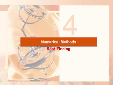 Numerical Methods Root Finding 4. Fixed-Point Iteration---- Successive Approximation Many problems also take on the specialized form: g(x)=x, where we.