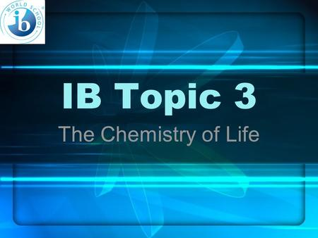 IB Topic 3 The Chemistry of Life. 3.6 Enzymes 3.6.1 Define enzyme & active site. Enzyme: globular protein, accelerates a specific chemical reaction by.