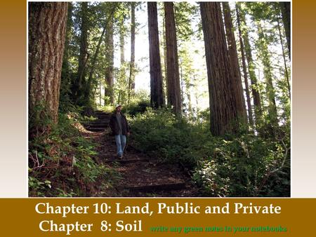 Chapter 10: Land, Public and Private