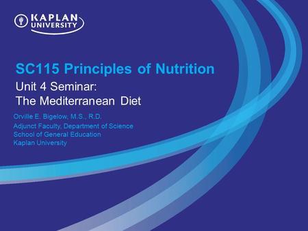 unit 9 nutrition sc115