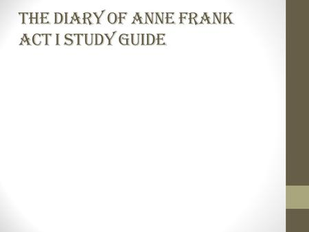an analysis of the story of anne frank Anne frank: the whole story is a two-part mini-series based on the book anne frank: the biography by melissa müllerthe mini-series aired on abc on may 20 and 21, 2001 the series starred ben kingsley, brenda blethyn, hannah taylor-gordon, and lili taylorcontroversially, but in keeping with the claim made by melissa müller, the series.