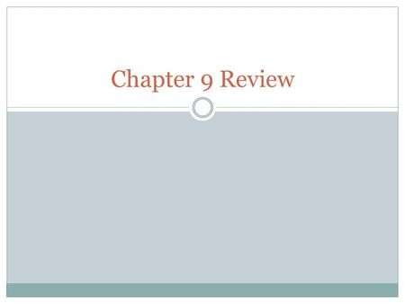 Chapter 9 Review. Terms capital stock: total shares of ownership in a corporation cash discount: a deduction that a vendor allows on the invoice amount.