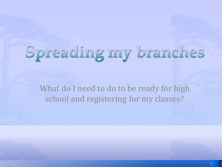 What do I need to do to be ready for high school and registering for my classes?