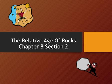 The Relative Age Of Rocks Chapter 8 Section 2. Absolute Age Absolute Age of a rock is the number of years since that rock formed, its EXACT age. Ex. The.