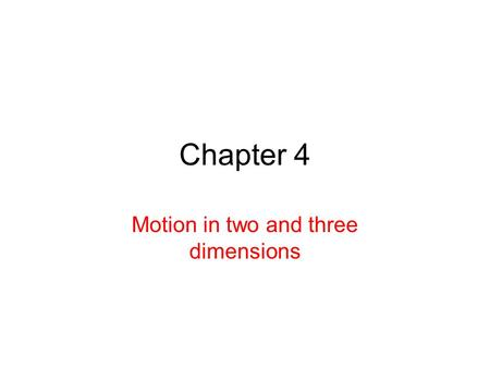 Chapter 4 Motion in two and three dimensions. 4.7: Uniform Circular Motion The speed of the particle is constant A particle travels around a circle/circular.