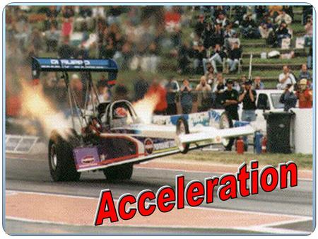 What does it mean to accelerate anyway?? TO ACCELERATE YOU MUST CHANGE YOUR VELOCITY!! VELOCITY CHANGES IF…. 1. Increase Speed 2. Decrease Speed 3. Change.