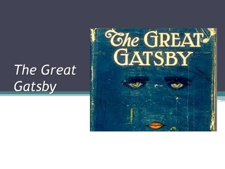 The Great Gatsby. Time Period- Prohibition Prohibition In January 1920 congress enacted the 18 th Amendment in order to control the abuse of alcohol.