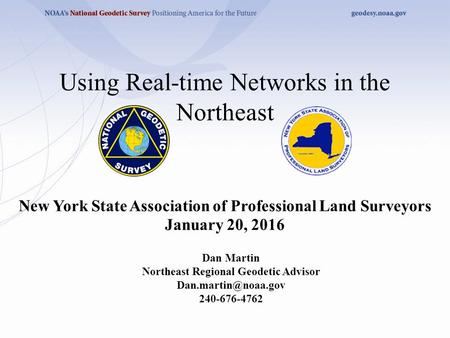 Using Real-time Networks in the Northeast