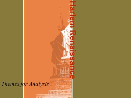 an analysis of the harlem renaissance and the introduction of jazz music A brief historical introduction to the harlem (via biography, the harlem renaissance) in essence, harlem, jazz, and everything african-american became the anti-thesis is monumental the american landscape was changed forever as a direct result of the harlem renaissance music.