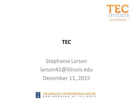 TEC Stephanie Larson December 11, 2015.