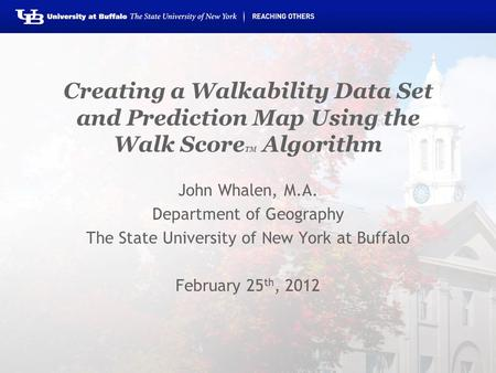 John Whalen, M.A. Department of Geography