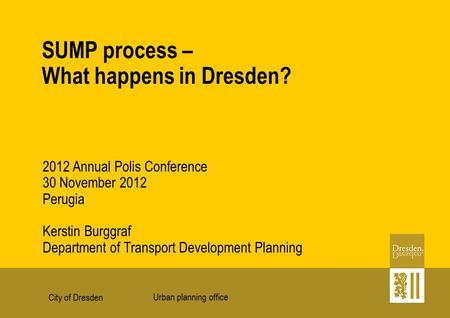 SUMP process – What happens in Dresden?