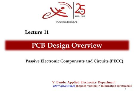 PCB Design Overview Lecture 11