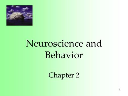 1 Neuroscience and Behavior Chapter 2. 2 History of Mind In 1800, Franz Gall suggested that bumps of the skull represented mental abilities. His theory,