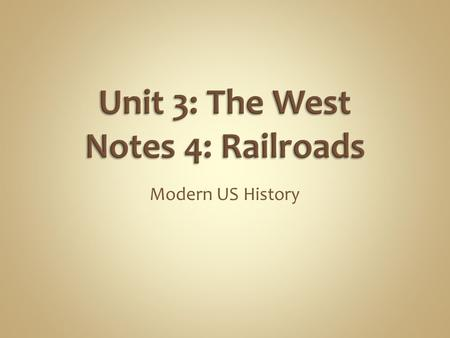 Modern US History. Use the Venn diagram to show how Pictures of Nature and Railroads were used to show different beliefs about America's western frontier.