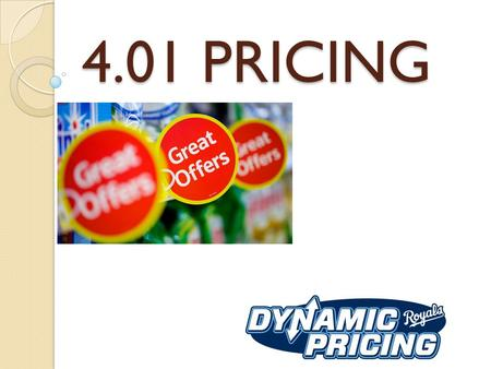 4.01 PRICING. ESSENTIAL QUESTIONS A: What are the concepts of pricing in SEM? B: How do the 5 factors affect pricing in SEM?
