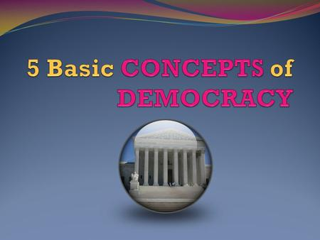 September 16, 2015 Objective: Understand the 5 basic foundations of democracy.