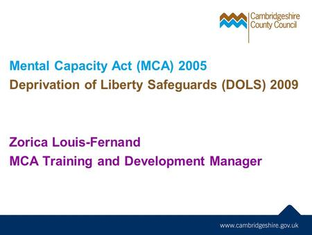 Mental Capacity Act (MCA) 2005