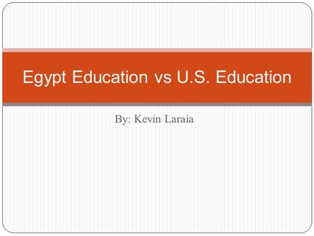Egypt Education vs U.S. Education