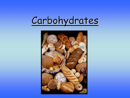 Carbohydrates. Carbohydrates are important food for animals. Carbohydrates contain the elements carbon, hydrogen and oxygen. There are two hydrogen atoms.