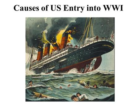 Causes of US Entry into WWI. Why US Entered WWI 1914-WWI Starts US declares Neutrality.