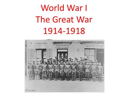 World War I The Great War 1914-1918. The U.S. Enters the War The United States tried to remain neutral The U.S. into the war: 1.S -Sussex Pledge 2.L-