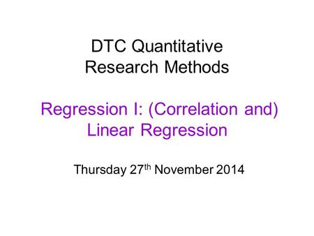 research methods multiple regression Items 1 - 40 of 43  linear regression refers to a linear function expressing the relationship  between the conditional mean of a random variable (the.