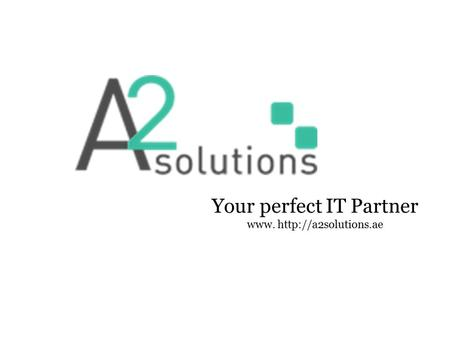 Your perfect IT Partner www.
