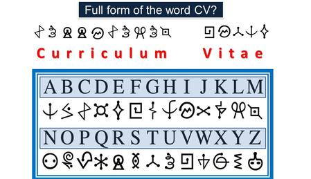 Full form of the word CV? Curriculum Vitae.