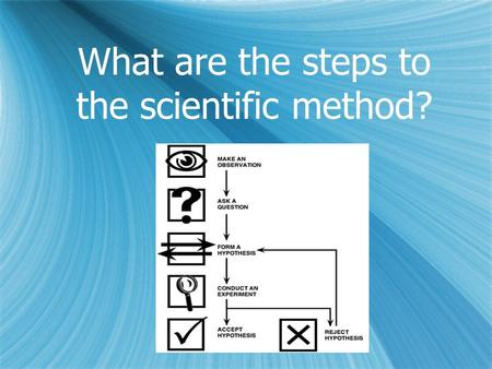 What are the steps to the scientific method? Oct. 26, 2015 1.Warm Up 2.Notes/Discussion over The Scientific Revolution 3.Videos 4.HW: Study notes and.