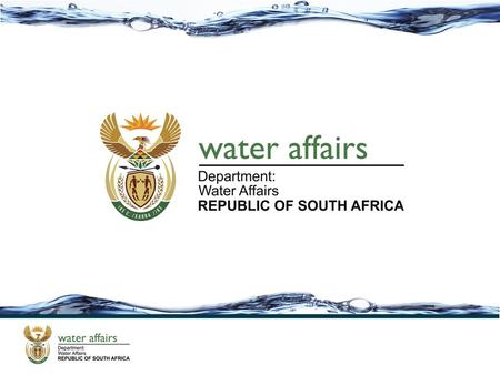 Status Report on Water User Associations in South Africa Portfolio Committee on Water and Environmental Affairs 24 April 2013.