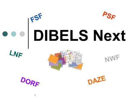 1 DIBELS Next FSF PSF LNF NWF DORF DAZE. 2 Objectives of Workshop Introduce and practice the new measures and new scoring rules in DIBELS Next Review.