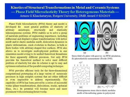 Phase Field Microelasticity (PFM) theory and model is developed for most general problem of elasticity of arbitrary anisotropic, structurally and elastically.