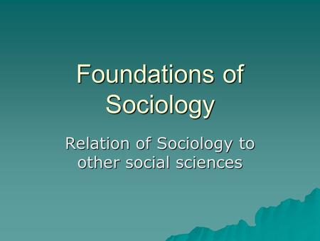 review of sociology as an academic