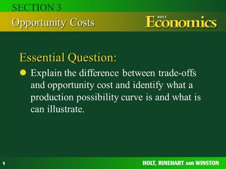 relationship between tradeoff and opportunity cost