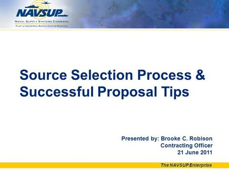 Source Selection Process & Successful Proposal Tips