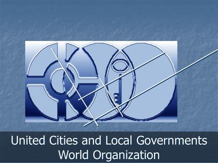 United Cities and Local Governments World Organization.