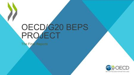 OECD/G20 BEPS PROJECT The Final Reports. Globalisation 1869 2.