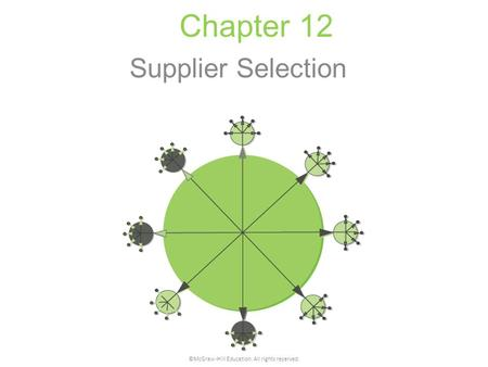 Chapter 12 Supplier Selection ©McGraw-Hill Education. All rights reserved.