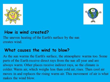 What causes the wind to blow?