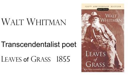 transcendentalist american essayist and poet Ralph waldo emerson - poet - american poet, essayist, and philosopher ralph waldo emerson was born in 1803 in boston.