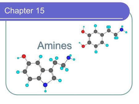 Chapter 15 Amines Amines. Structure & Classification Amines are classified as 1°, 2°, or 3° depending on the number of carbon groups bonded to nitrogen.