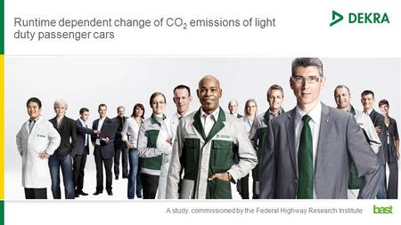 Runtime dependent change of CO 2 emissions of light duty passenger cars A study, commissioned by the Federal Highway Research Institute.