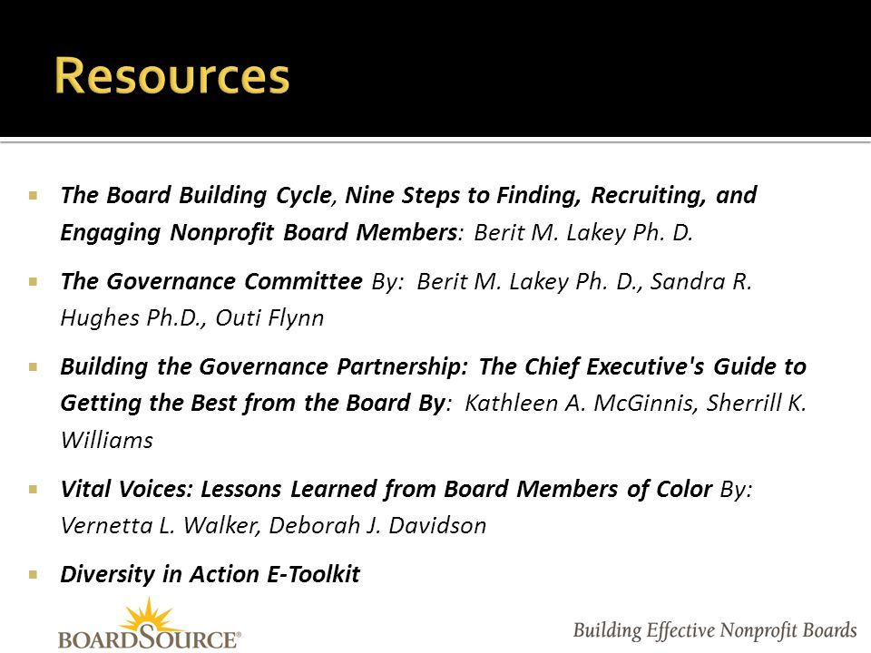 Let us know how BoardSource can help you and your board.