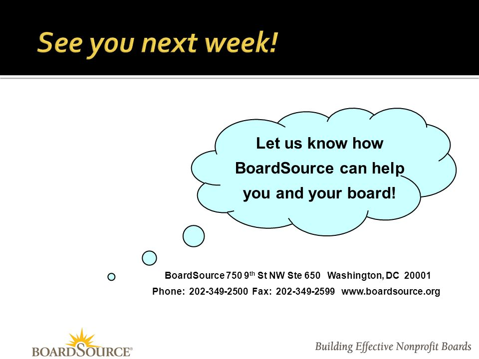 Vernetta Walker, JD Vice President Consulting and Training BoardSource