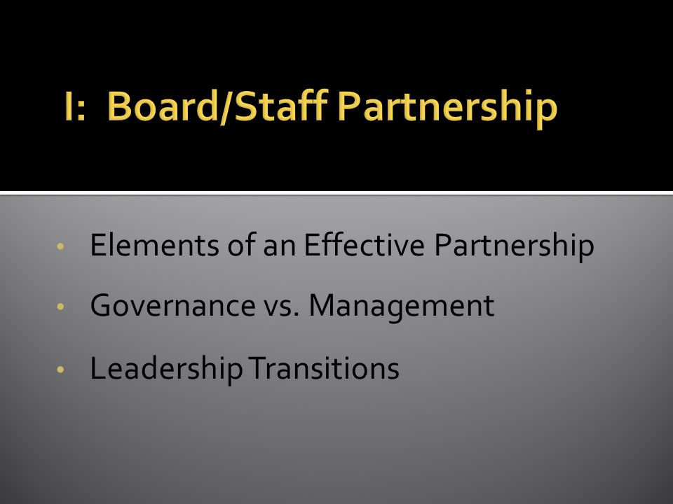 The chief executive actively involves the board in leading the organization.
