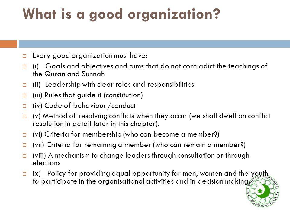 Why do Muslim organisations fail.