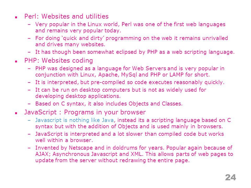 Position 2010Position 2009Delta in PositionLanguageRatings 2010Delta 2009Status 11=Java17.509%-2.29%A 22=C17.279%+1.42%A 34 ↑ PHP9.908%+0.42%A 43 ↓ C++9.610%-0.75%A 55=(Visual) Basic6.574%-1.71%A 67 ↑ C#4.264%-0.06%A 76 ↓ Python4.230%-0.95%A 89 ↑ Perl3.821%+0.40%A 910 ↑ Delphi2.684%-0.03%A 108 ↓↓ JavaScript2.651%-0.96%A 11 =Ruby2.327%-0.27%A 1232 ↑↑↑↑↑↑↑↑↑↑ Objective-C1.970%+1.79%A 13- ↑↑↑↑↑↑↑↑↑↑ Go0.921%+0.92%A 1415 ↑ SAS0.769%-0.03%A 1513 ↓↓ PL/SQL0.737%-0.31%A 1622 ↑↑↑↑↑↑ MATLAB0.661%+0.20%B 17 =ABAP0.639%+0.00%B 1816 ↓↓ Pascal0.603%-0.13%B 19 =ActionScript0.594%+0.11%B 2027 ↑↑↑↑↑↑↑ Fortran0.563%+0.24%B 25