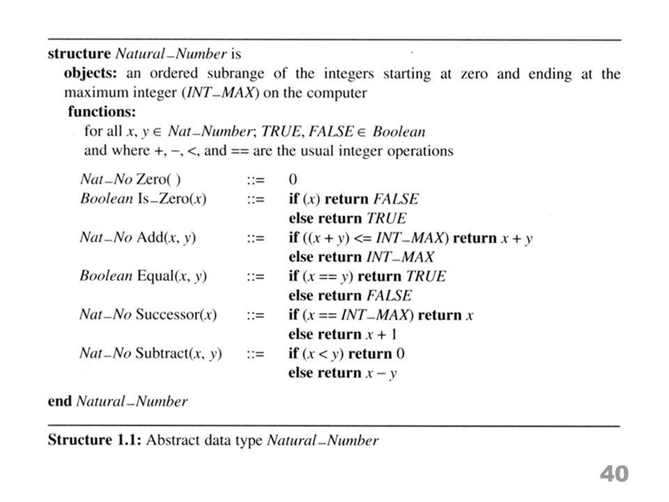 The array as an ADT 41